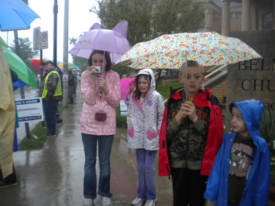 My kids had enough of the rainy marathon