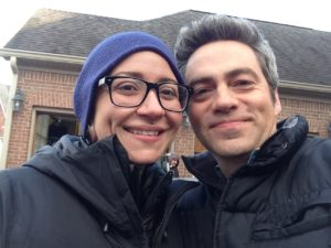 with Costume Designer Arieana Tate on the COLD location for Lifetime's Wicked Mom's Club.